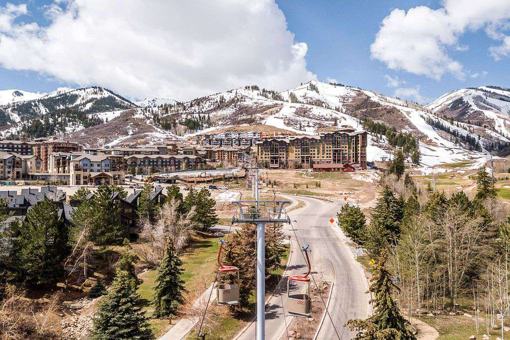 Areal view of Park City Canyons Village
