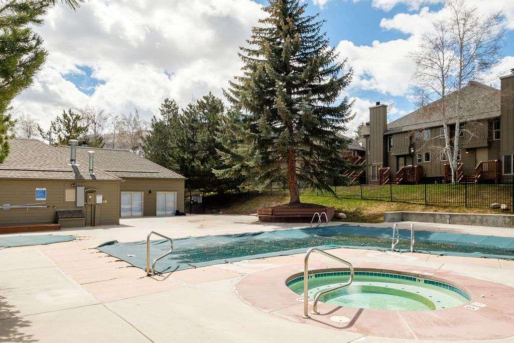 Condominium community pool and hot tub