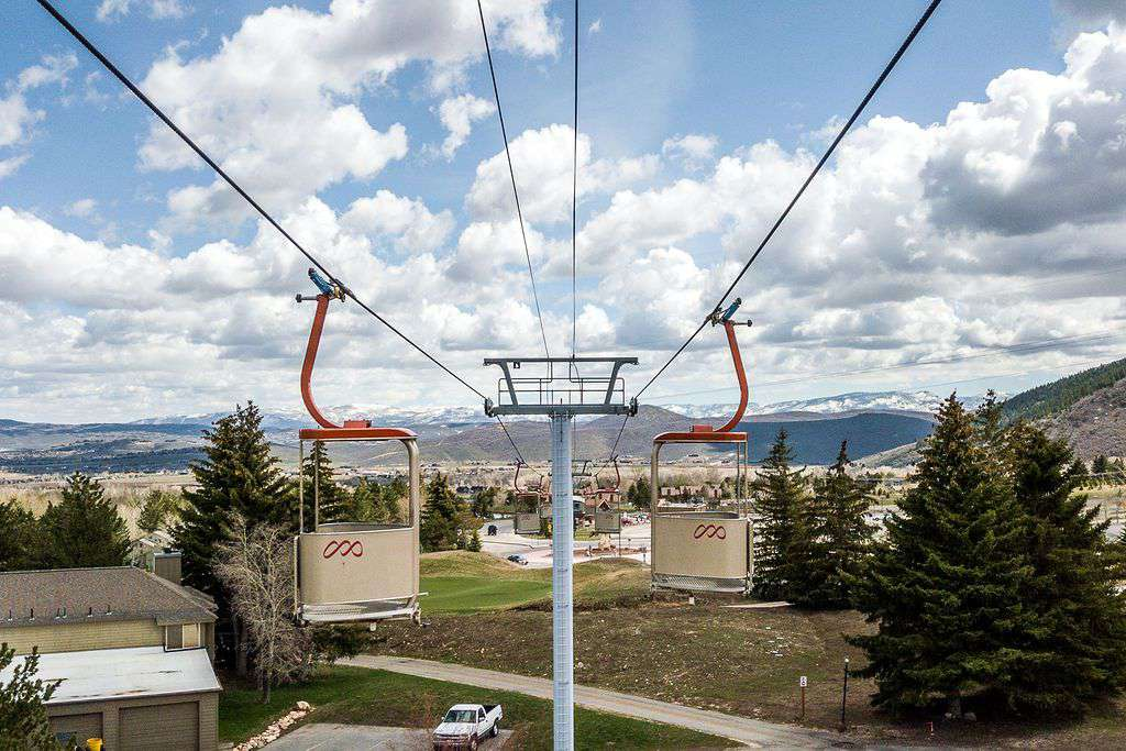 View of gondola from condo parking lot