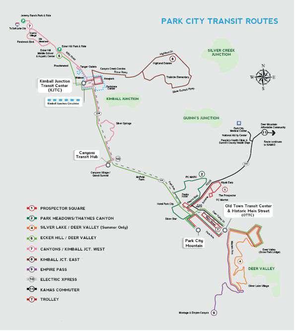 Park City Free Transit Route