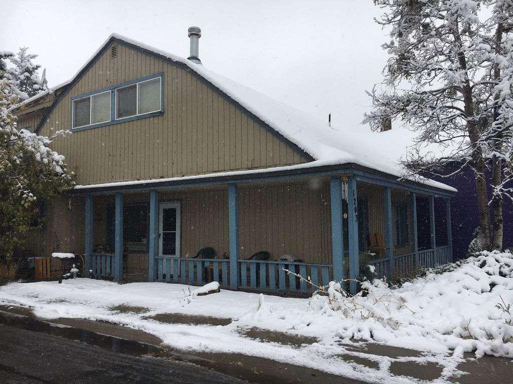 Winter scene of house