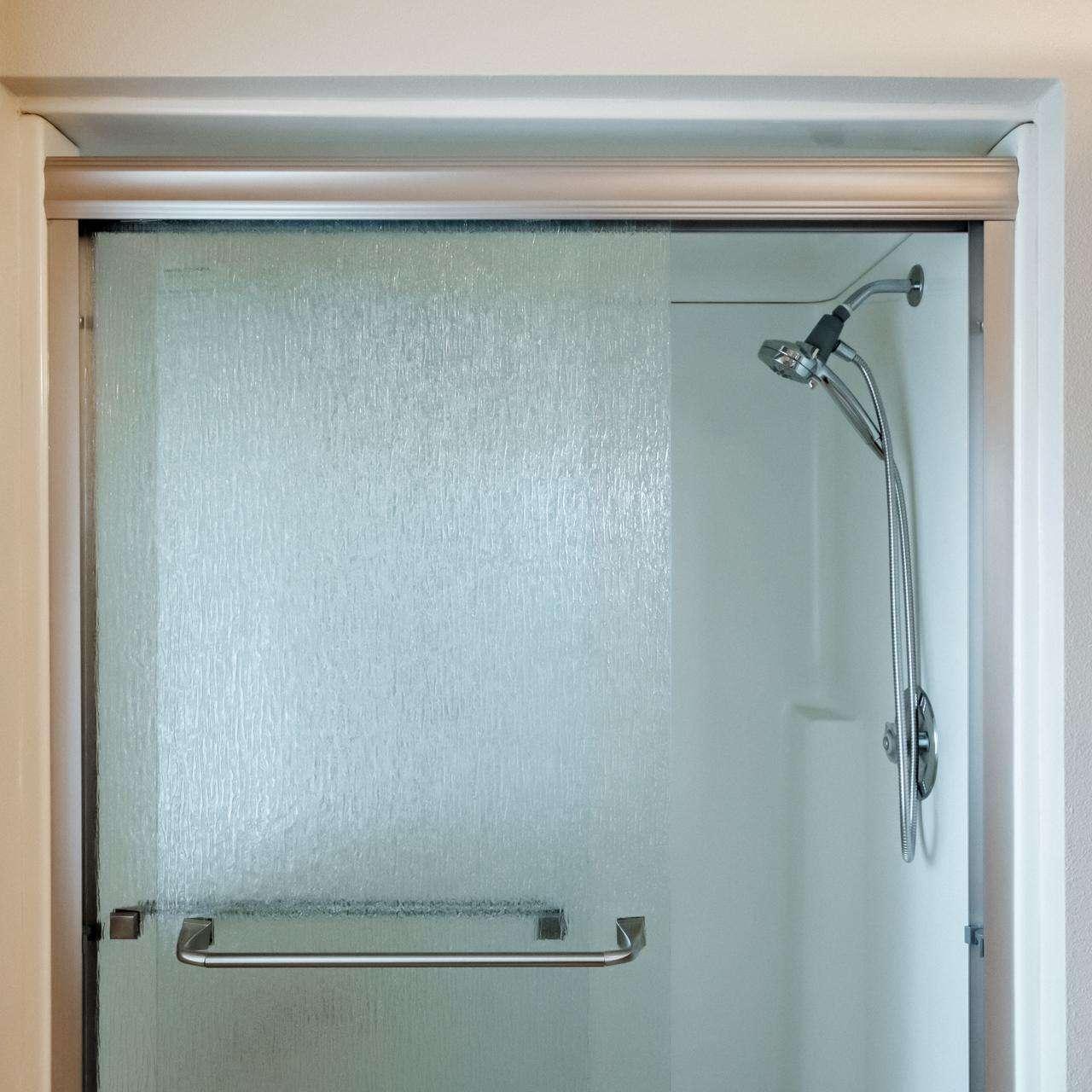 Master bedroom step in shower