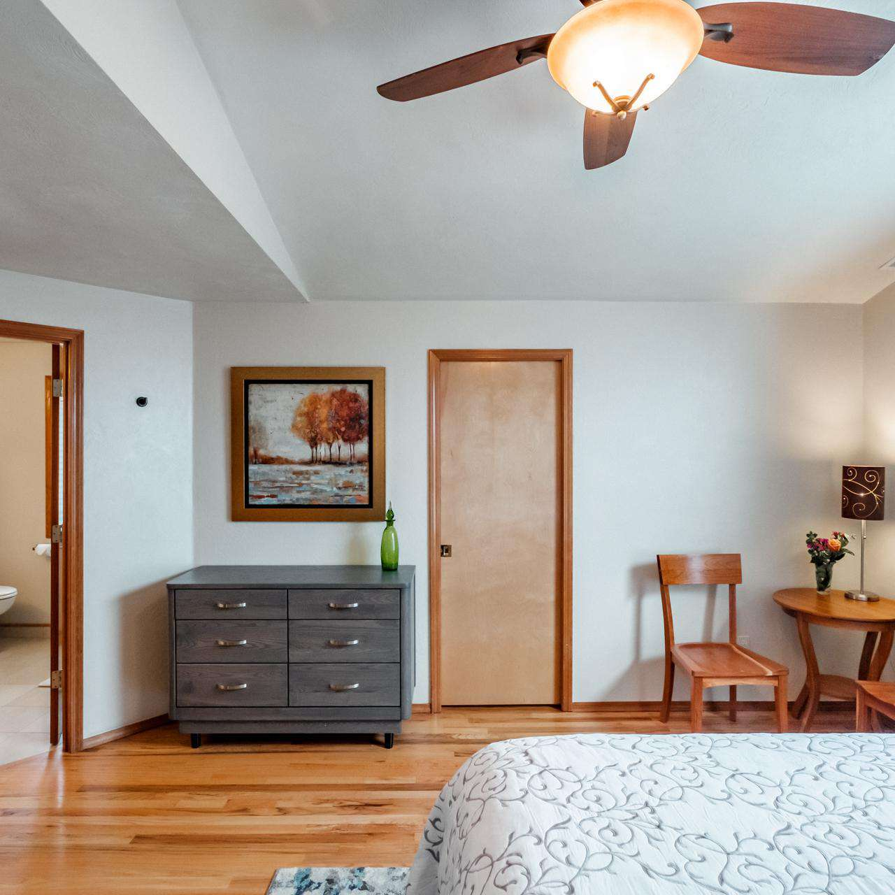 Wood floors throughout the home
