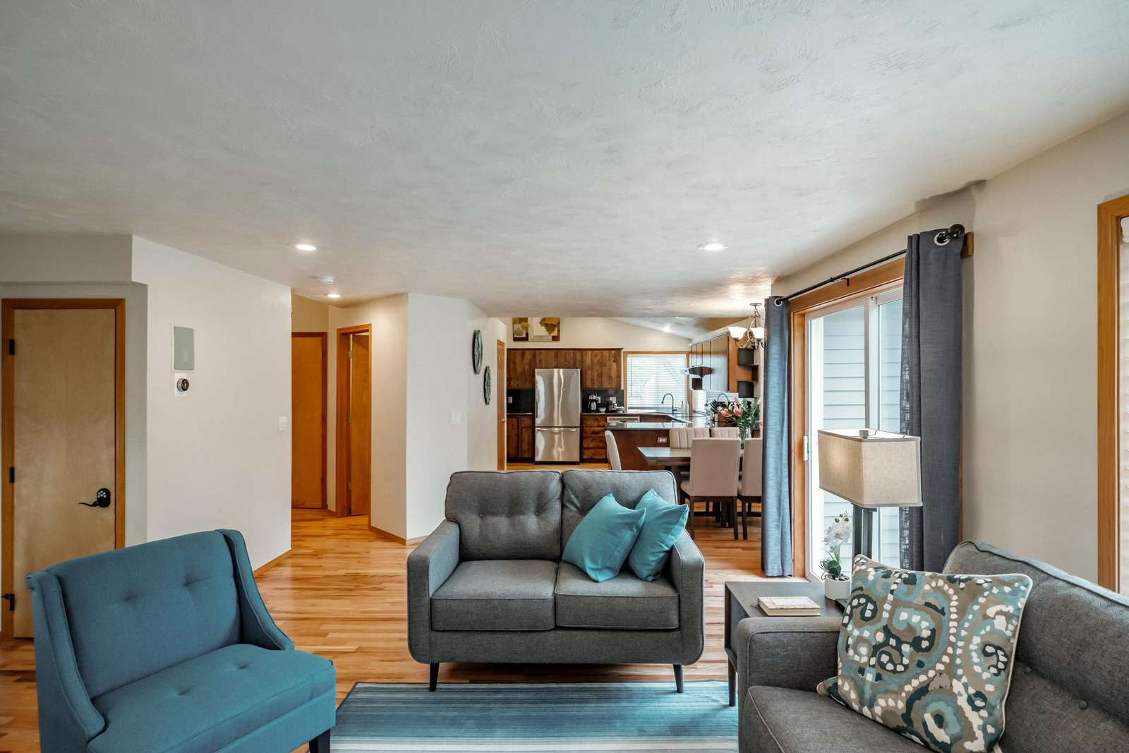 Comfortable seating in a great-room setting