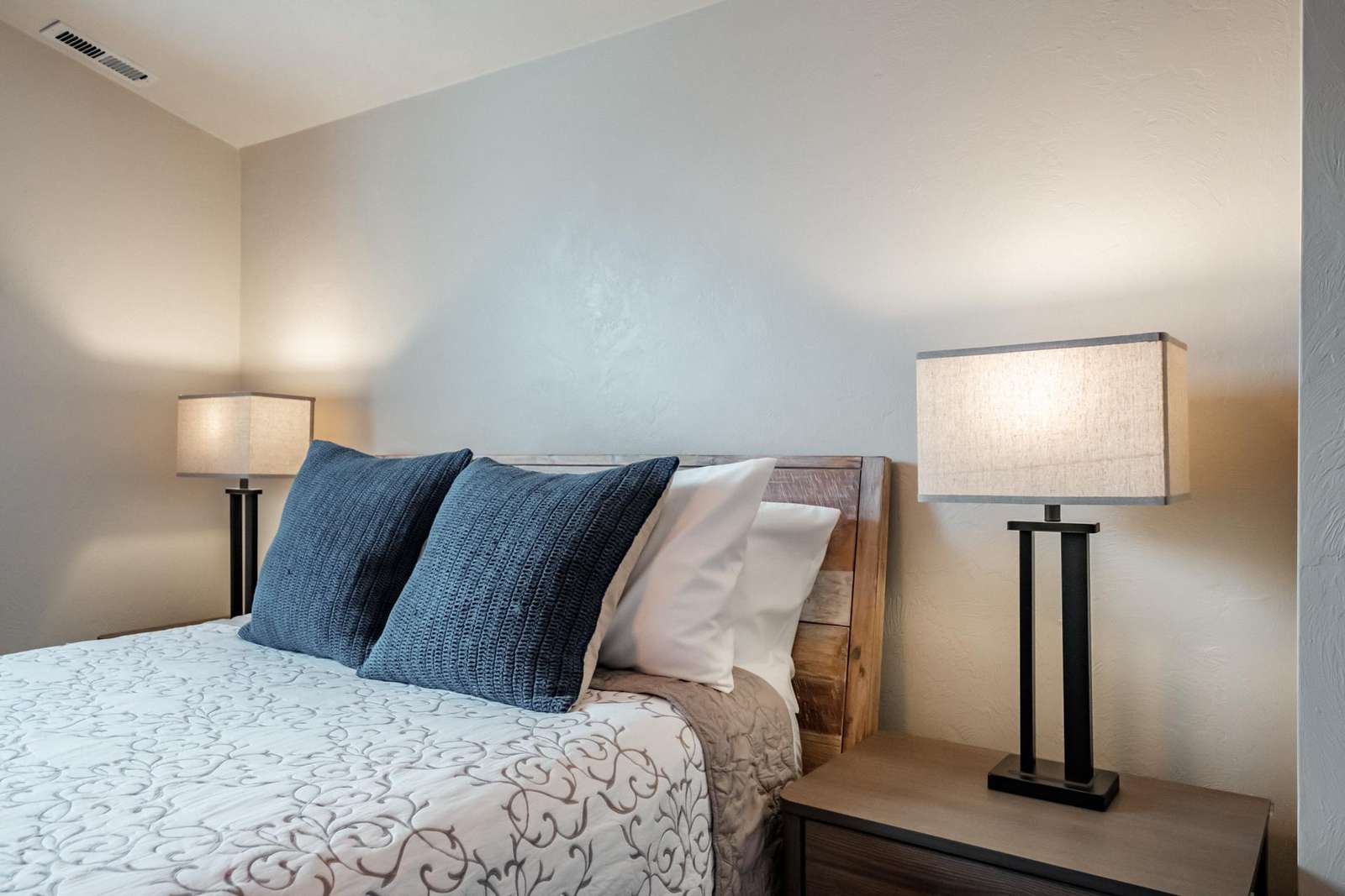 Master bedroom - spacious and warm setting