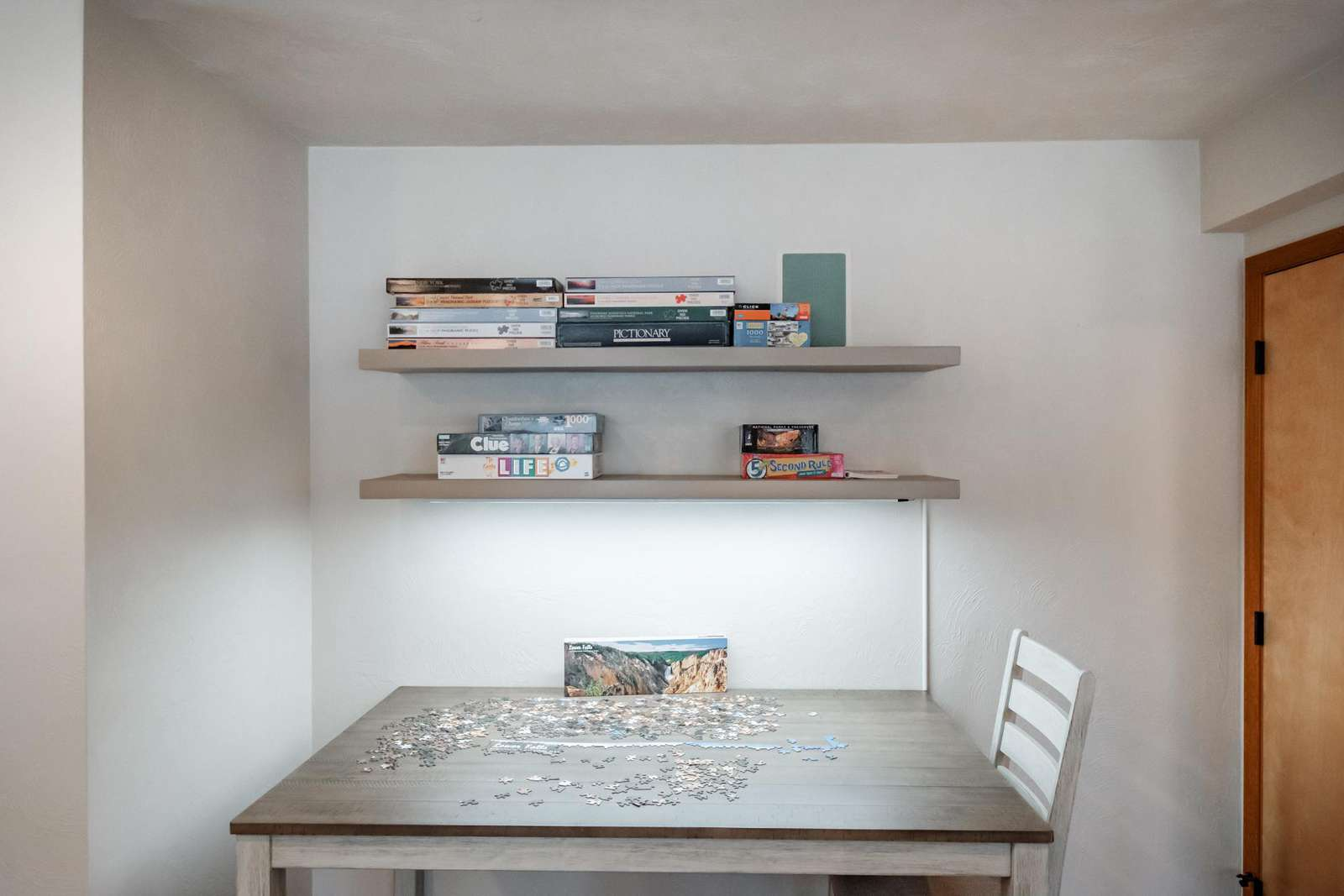 Puzzle table - We always have an interesting puzzle going- Come join in!