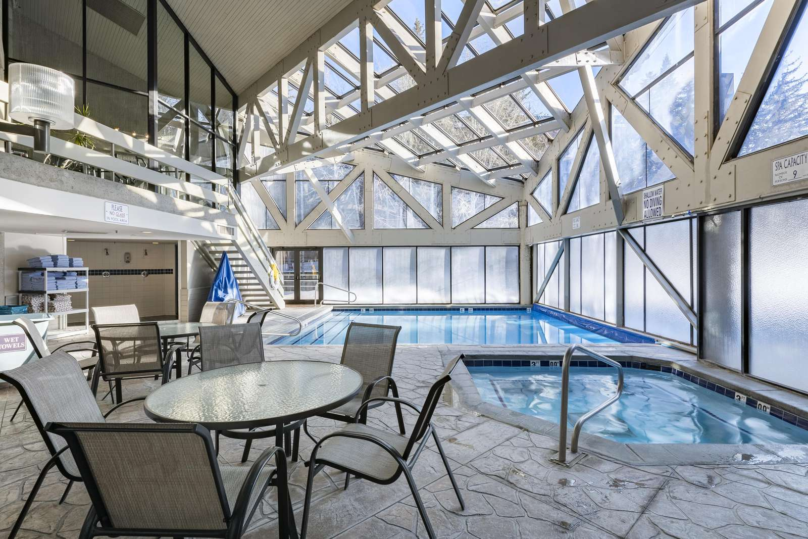Indoor swimming and hot tub year round