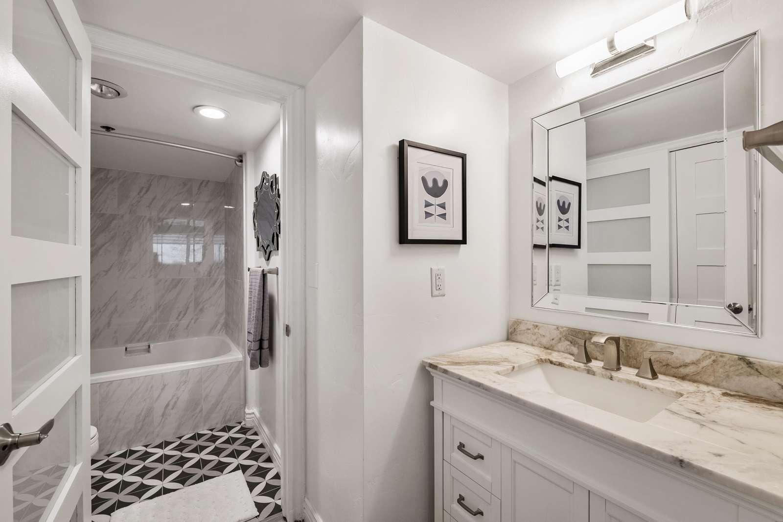 Master bathroom with separate vanity