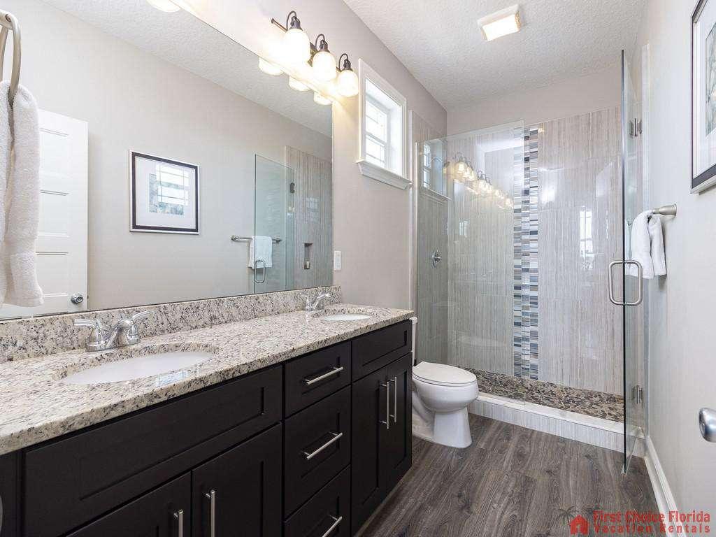 Sea View Third Floor Master Bath with Walk-in Shower