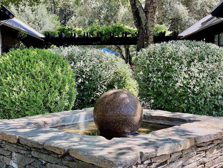 Fountain between Villa buildings