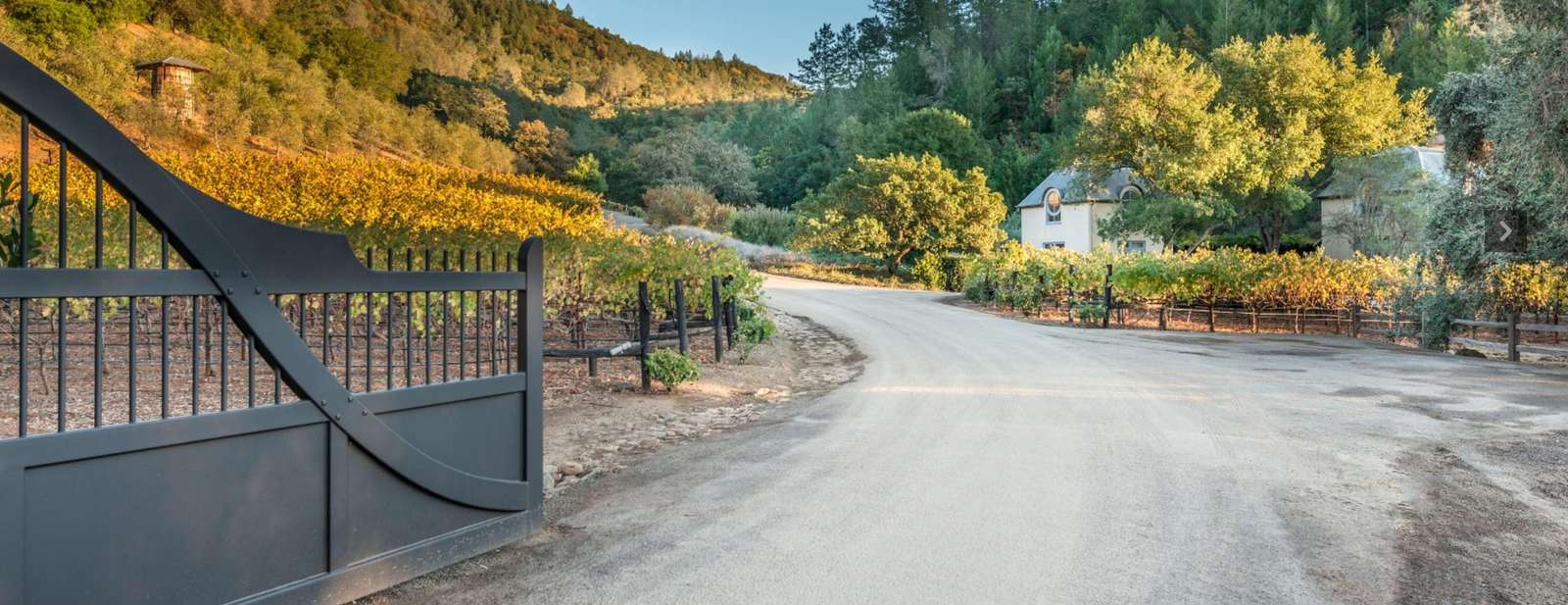 Gated entrance to estate