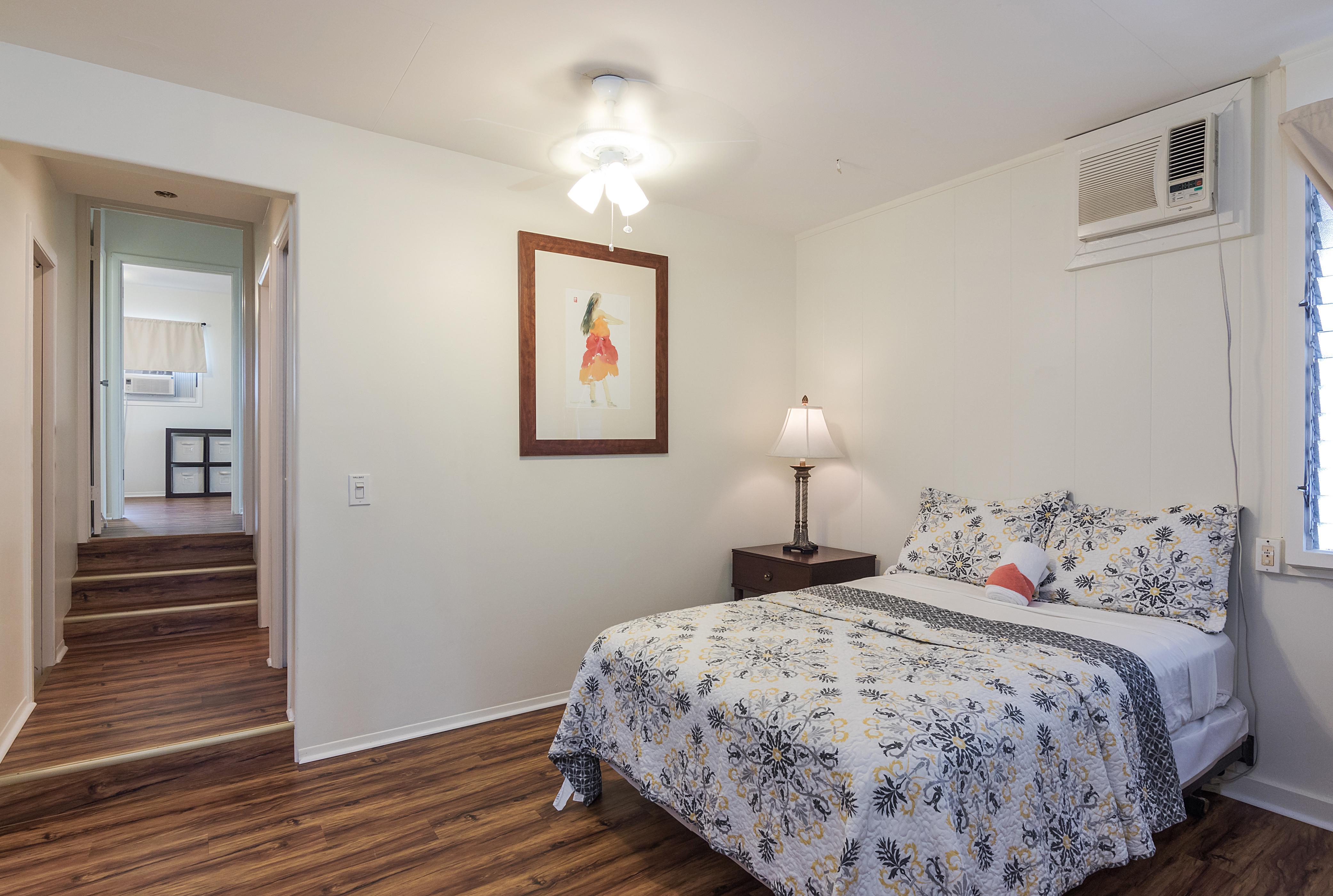 Bedroom C now has an added door to separate hallway to back bedrooms