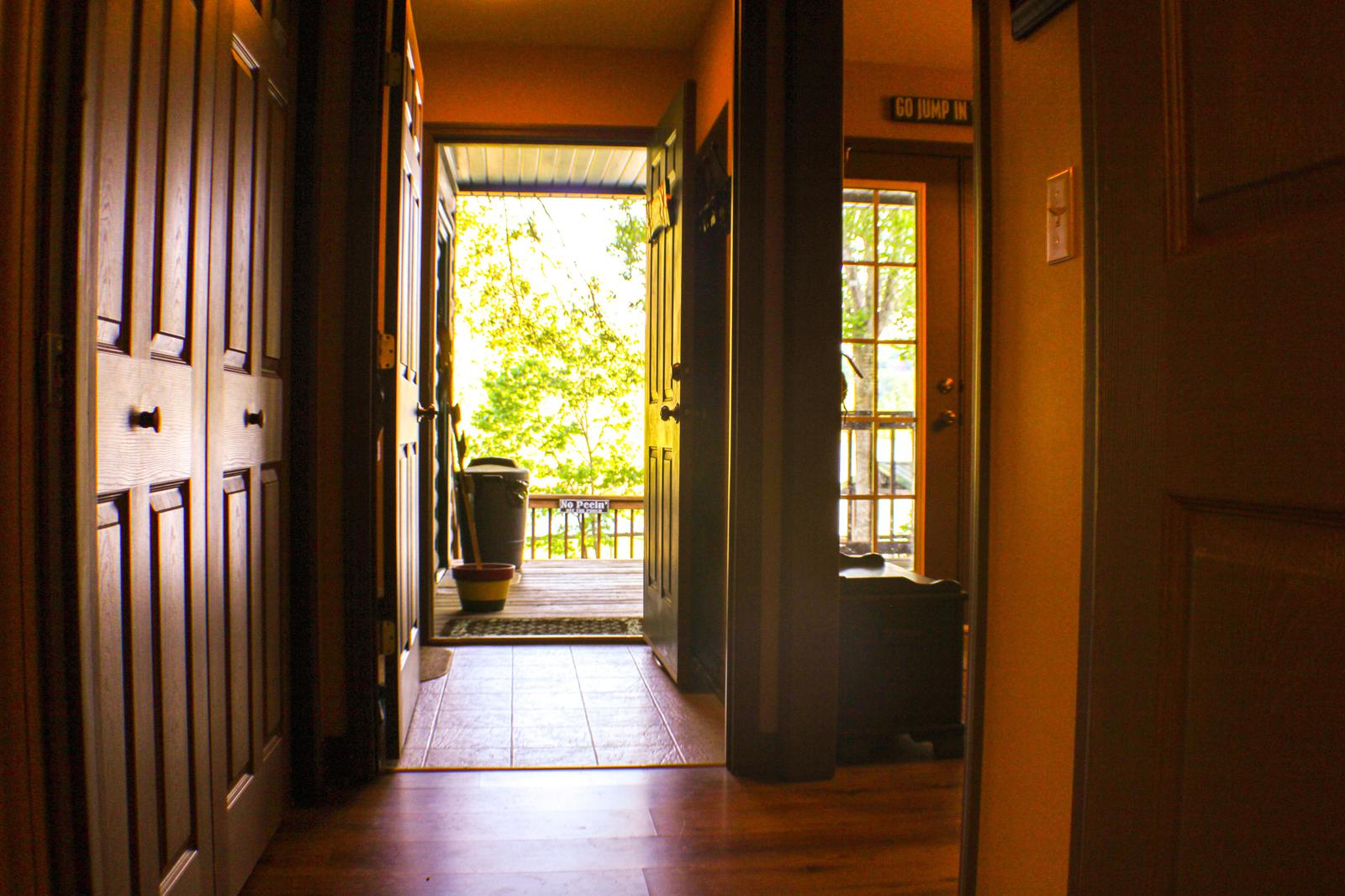 LOOKING OUT OF MASTER BEDROOM