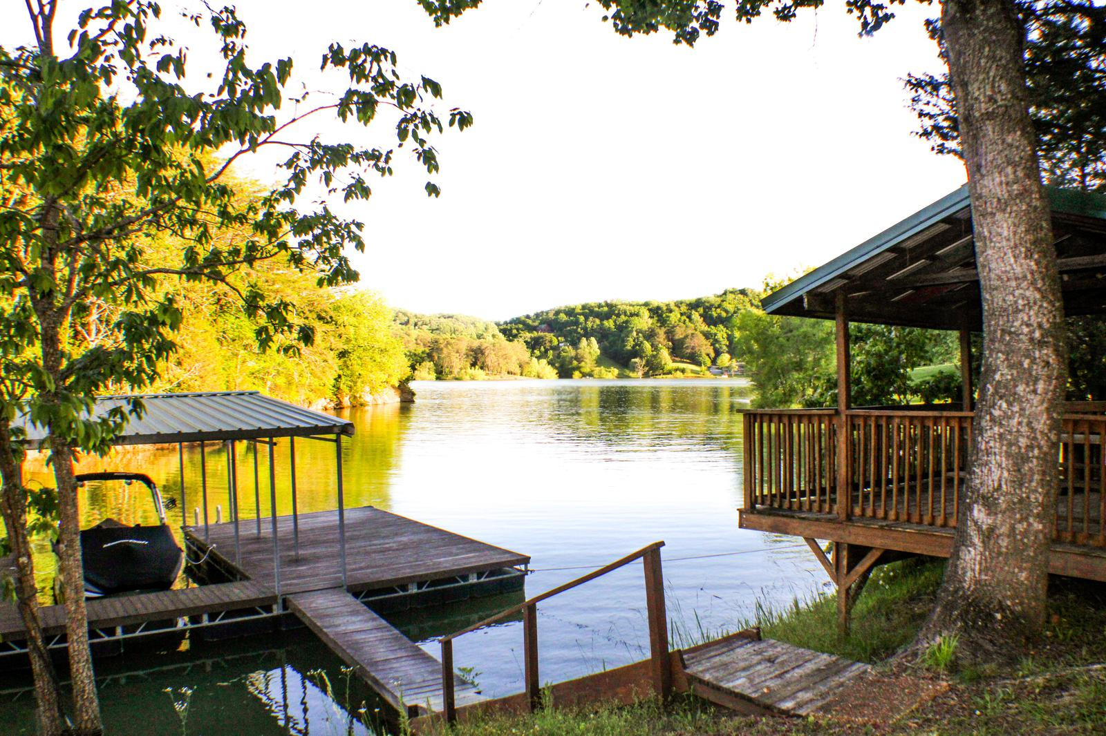PRIVATE BOAT DOCK AND PAVILLION