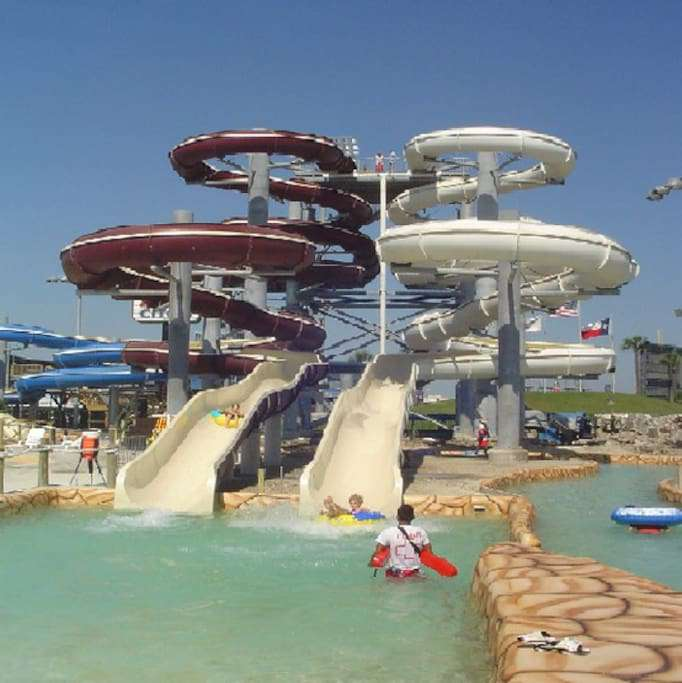 Hurricane Harbor Waterpark located a mile from the Condo