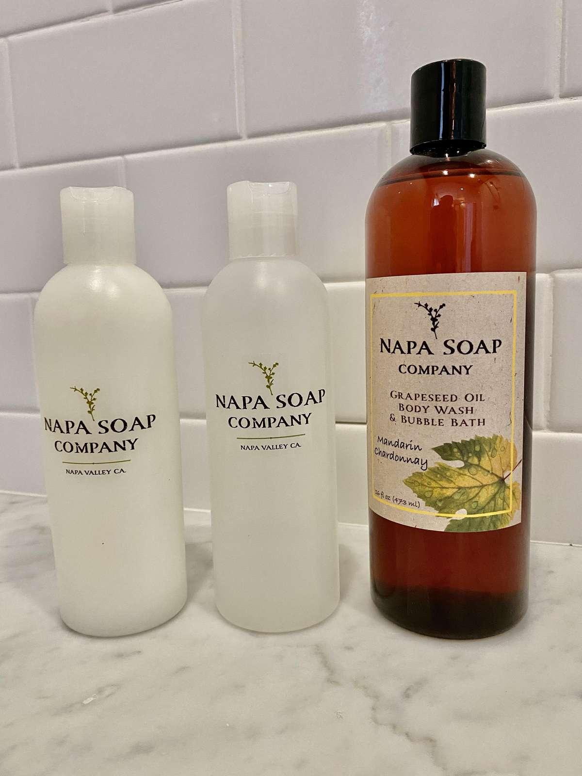 Napa Soap Company amenities in all bathrooms