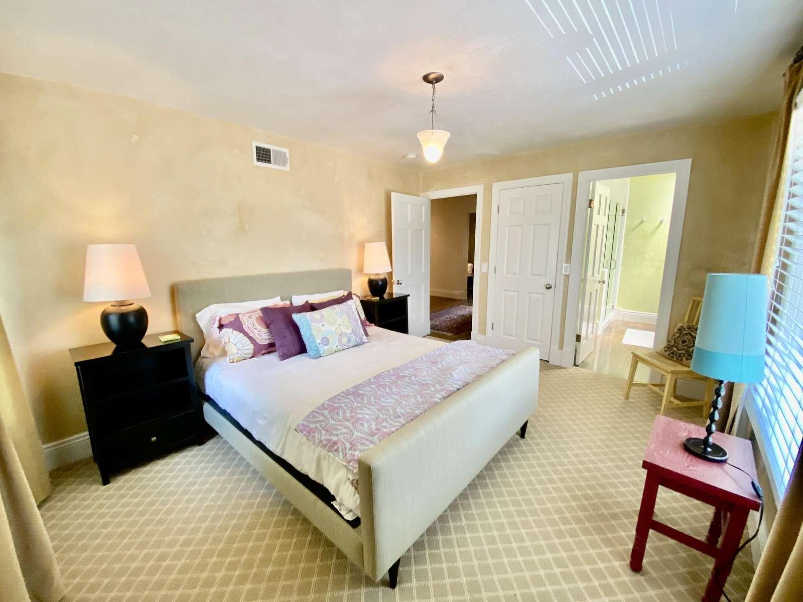 Bedroom 1 (queen) with ensuite full bath