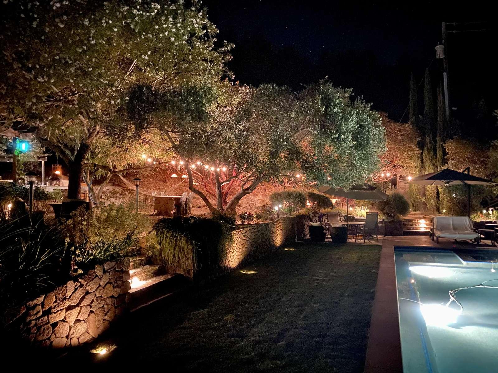 Subtle lighting make evenings at Villa Luba Helena so special