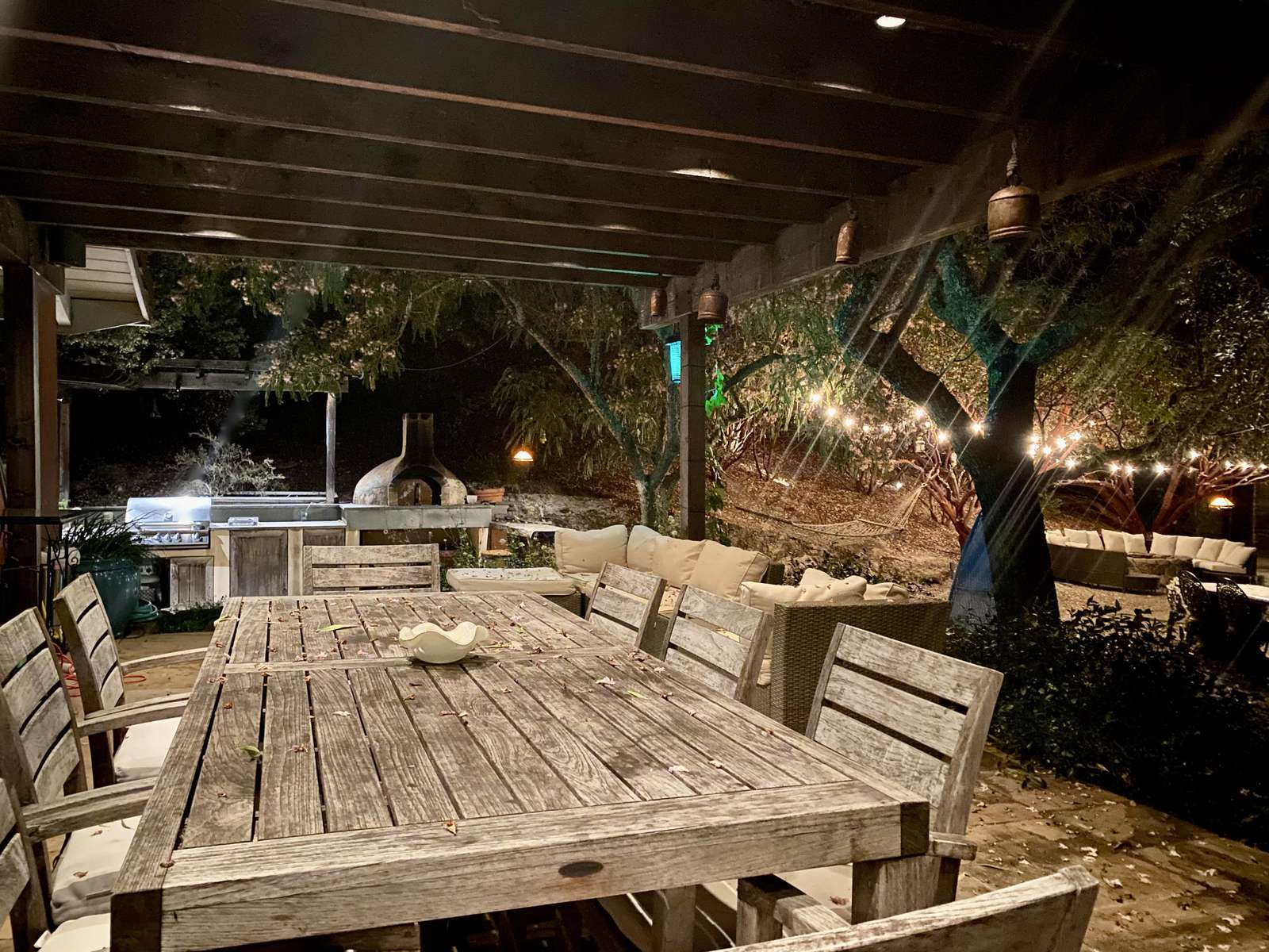 Enjoy dining under the stars in the loggia