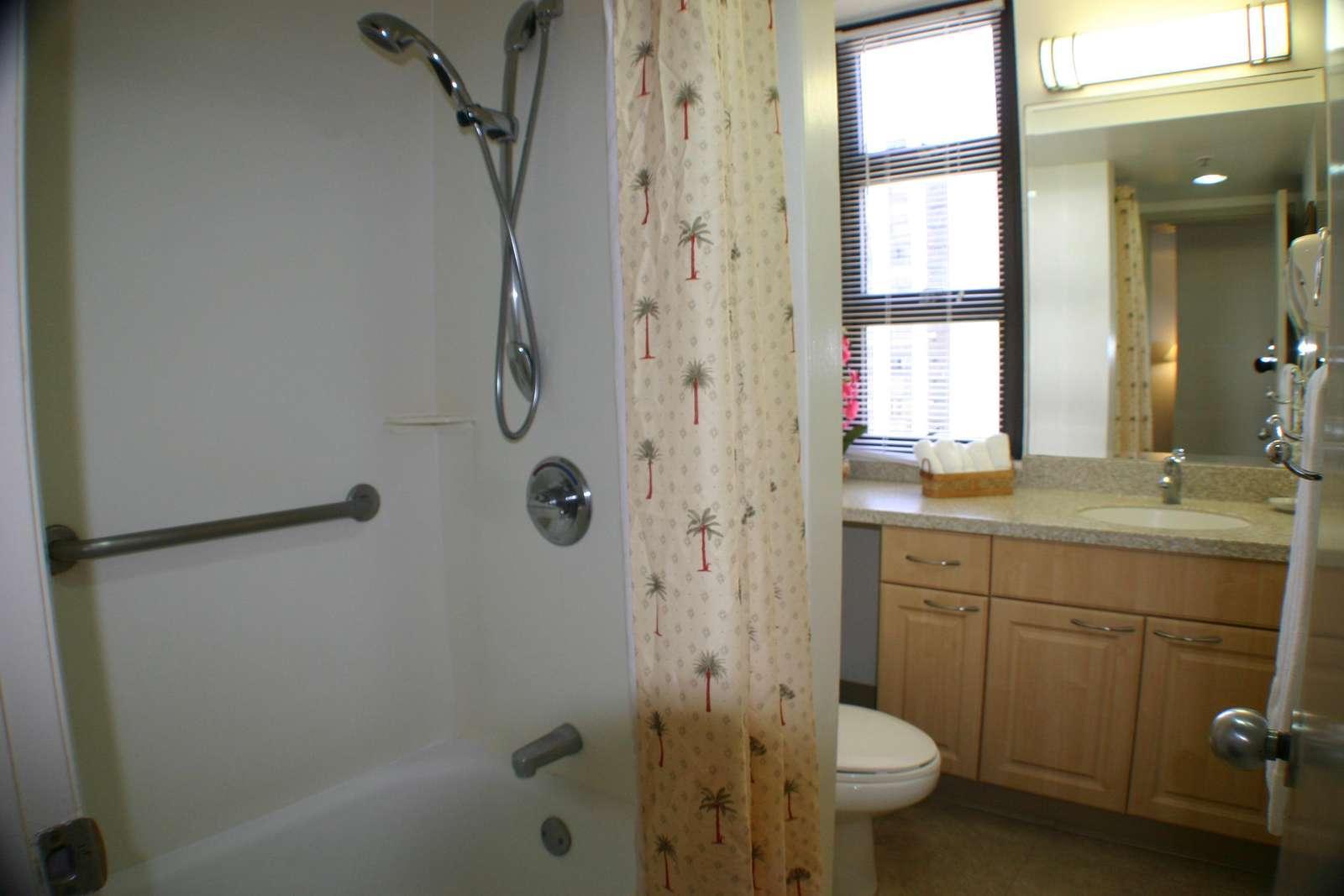 Tub/Shower with Grab Bars