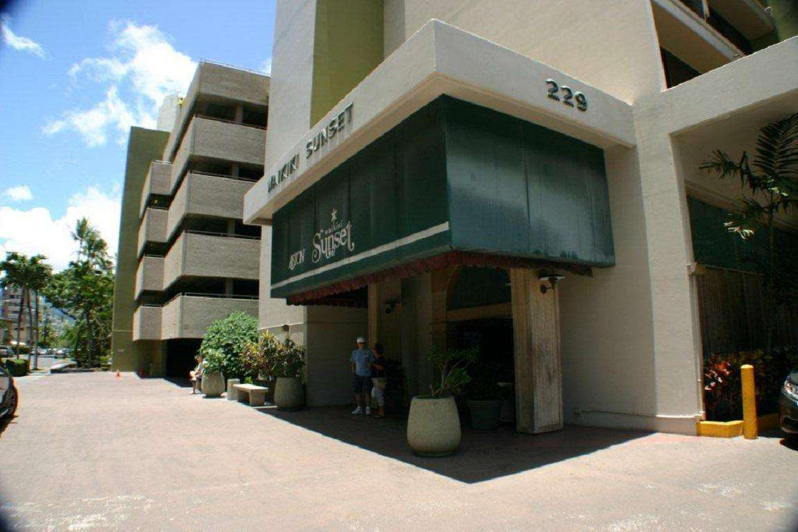 Hotel Lobby and Parking Garage Entrance
