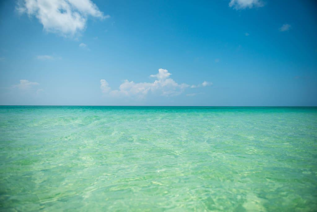 Beautiful emerald waters of the Gulf of Mexico