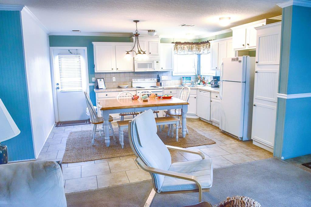 Kitchen with Range/Stove, Microwave and Dishwasher