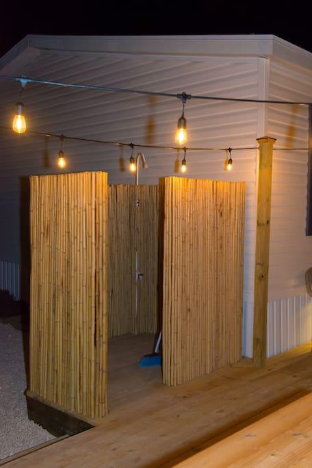 Night View of Bamboo Shower
