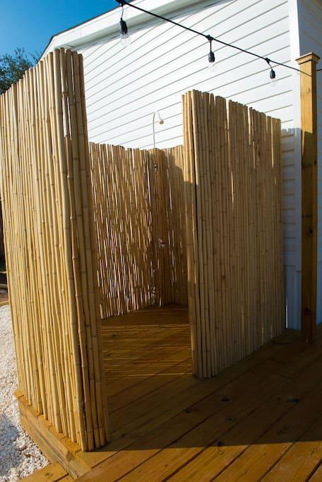 Outdoor Bamboo Shower
