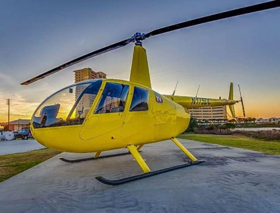 Take a Helicopter Ride down the Gulf...rentals in Pier Park Area.