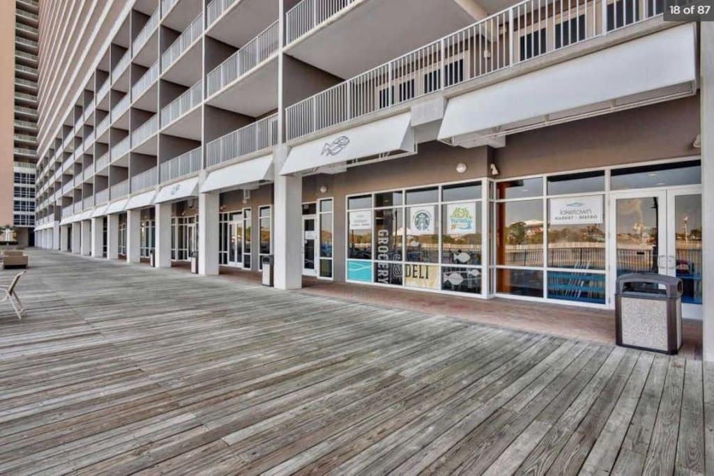 The Boardwalk has a Convenience Story, Restaurants and more!