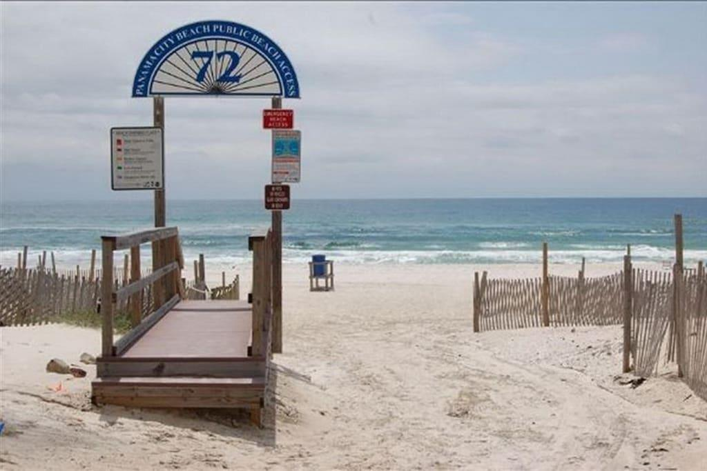 Beach access #72 on Front Beach Road is right across from Southwind Condos
