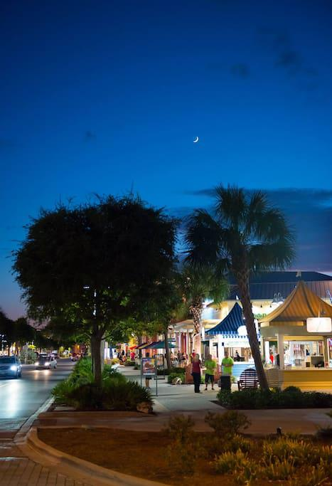 Pier Park is a great place to shop and play 2 miles away