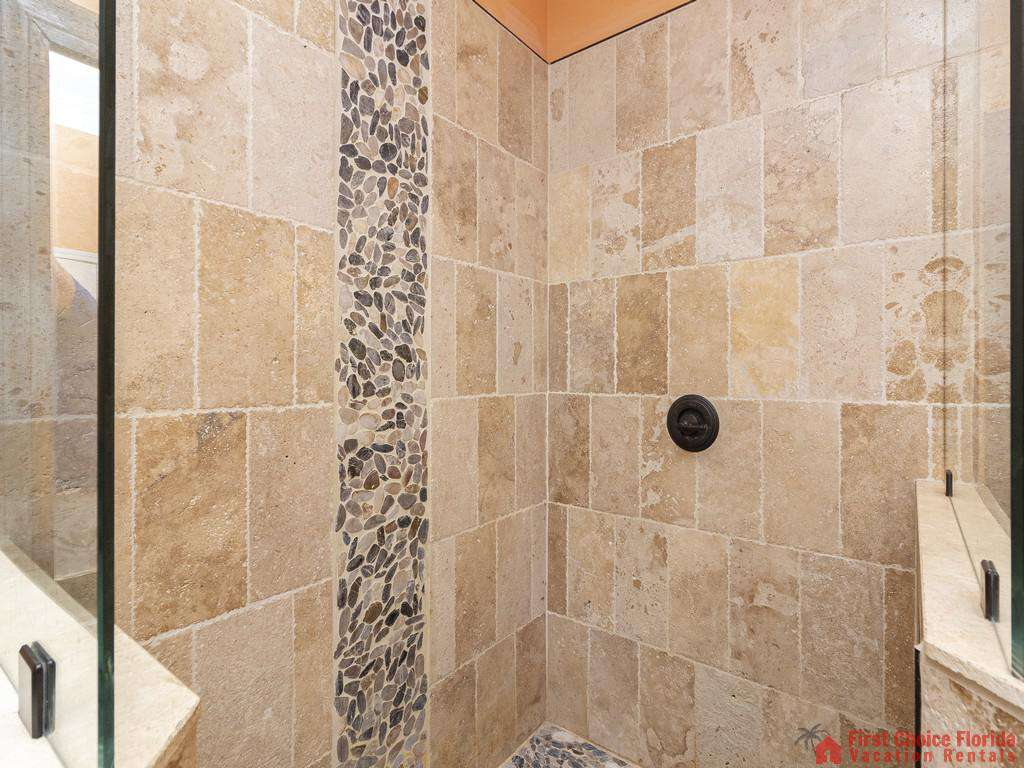 Coastal Hideaway Guest Walk-in Shower