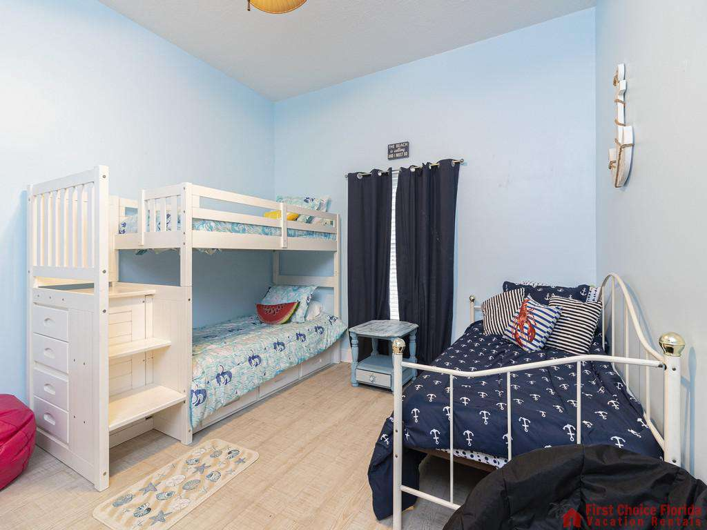 Coastal Hideaway Guest Room with Bunk Beds