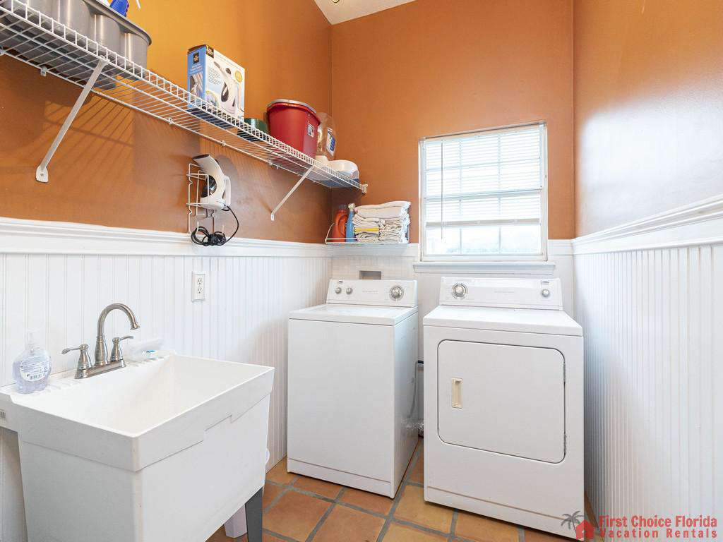 Coastal Hideaway Washer and Dryer