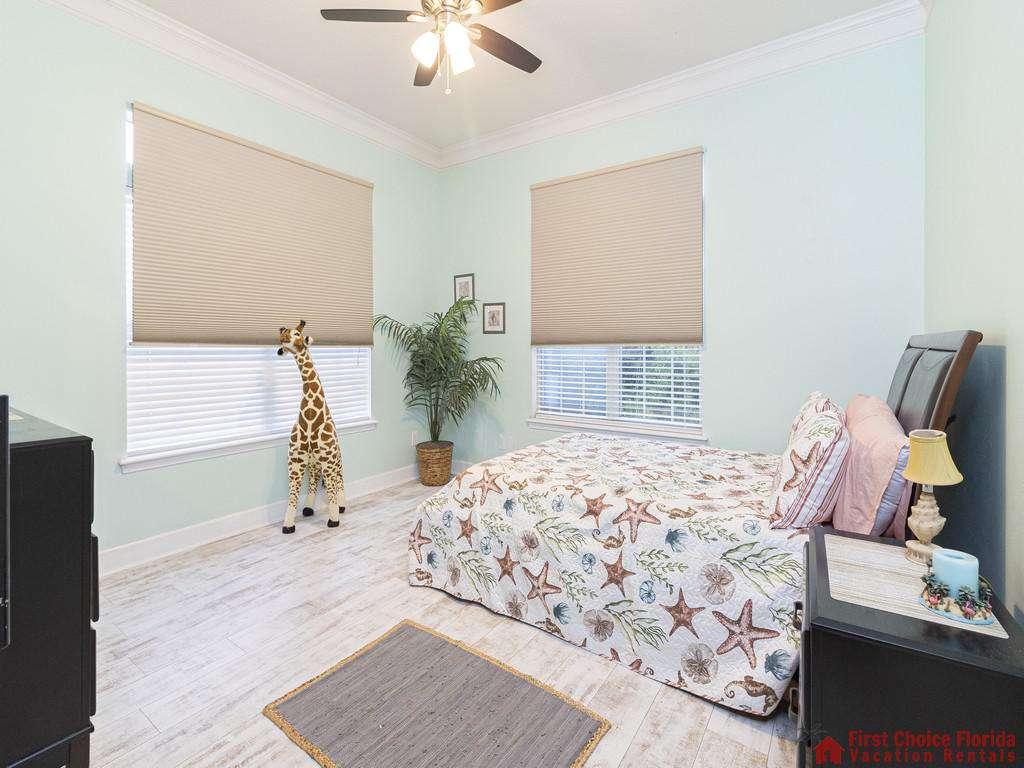 Coastal Hideaway Bedroom with Windows