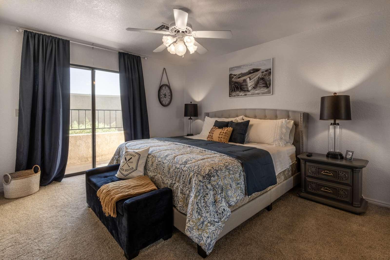 #1 Master Bedroom w/ Balcony