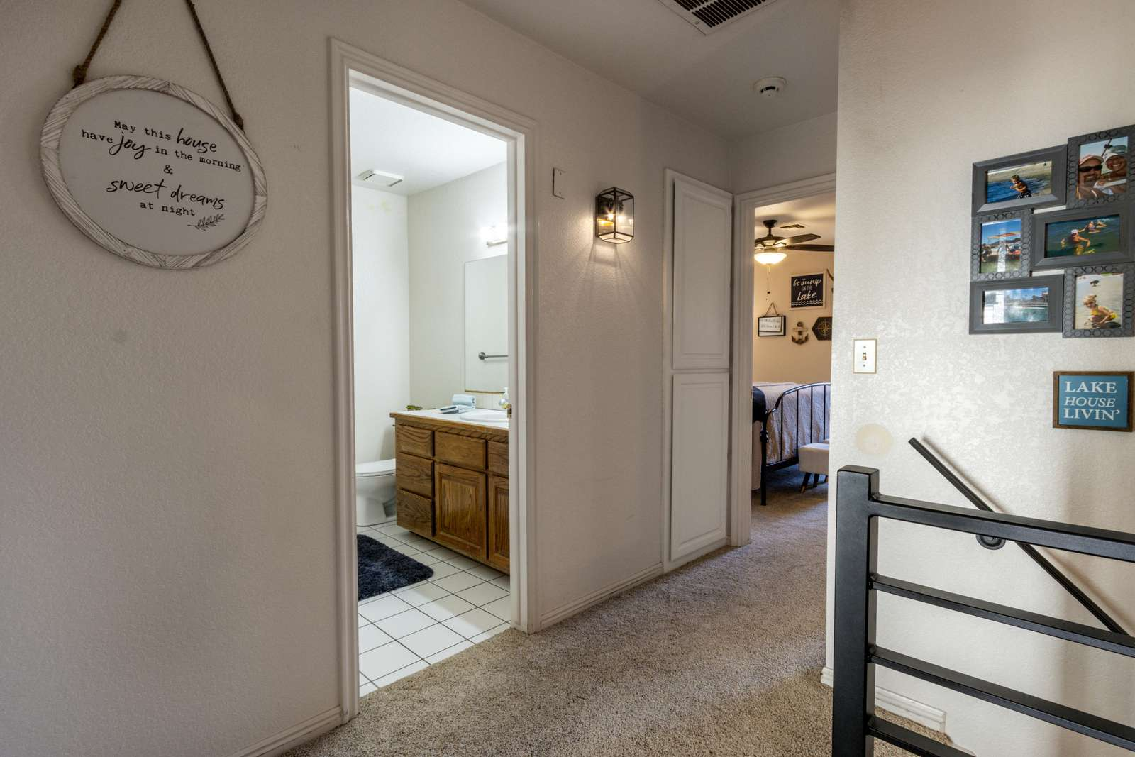 Hallway to upstairs Bathroom