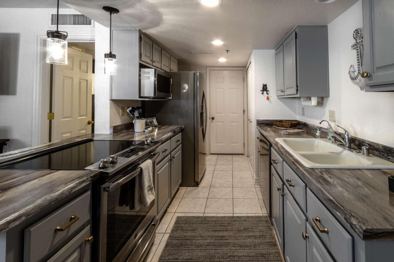 Kitchen exit garage