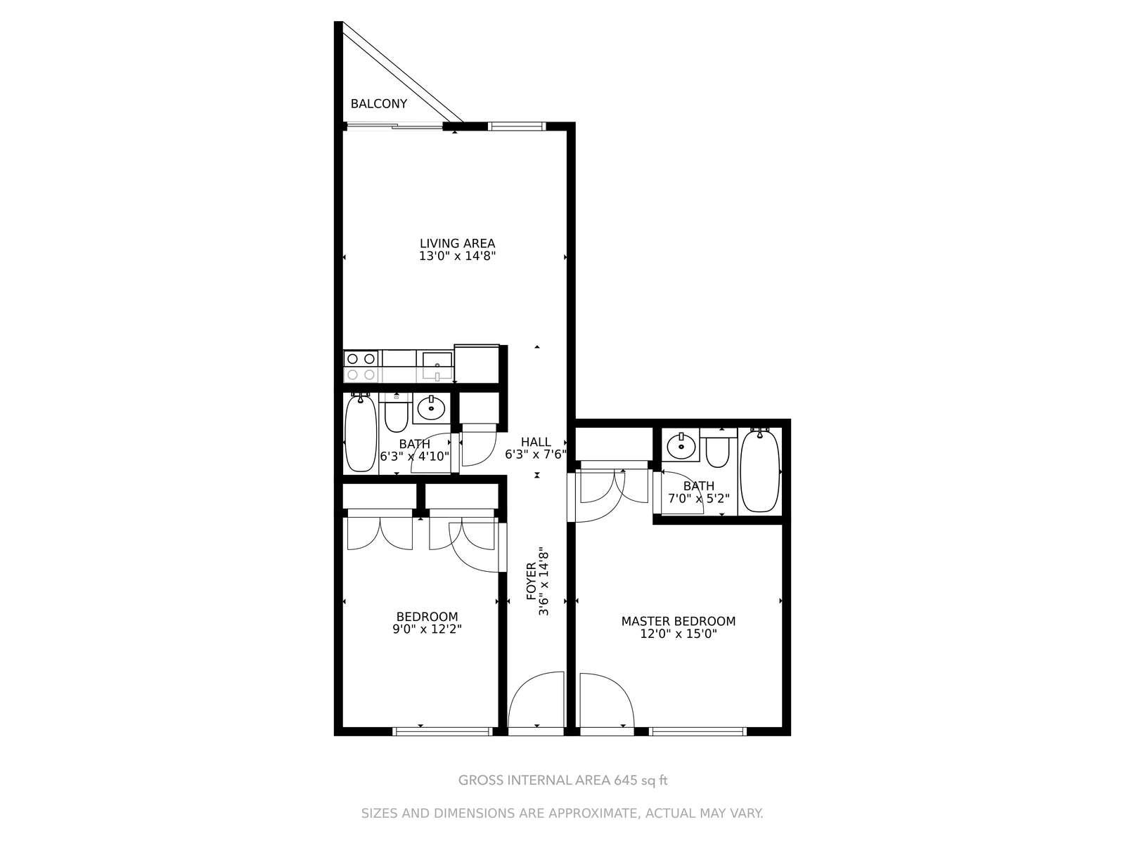 Floor Plan of the Unit