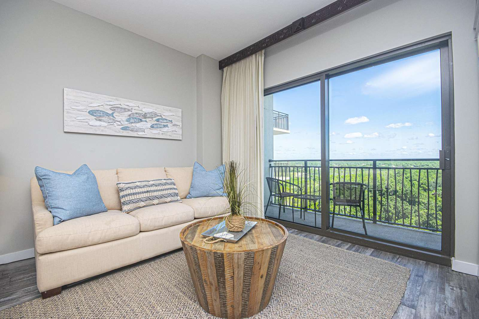 Private balcony accessible from living area!