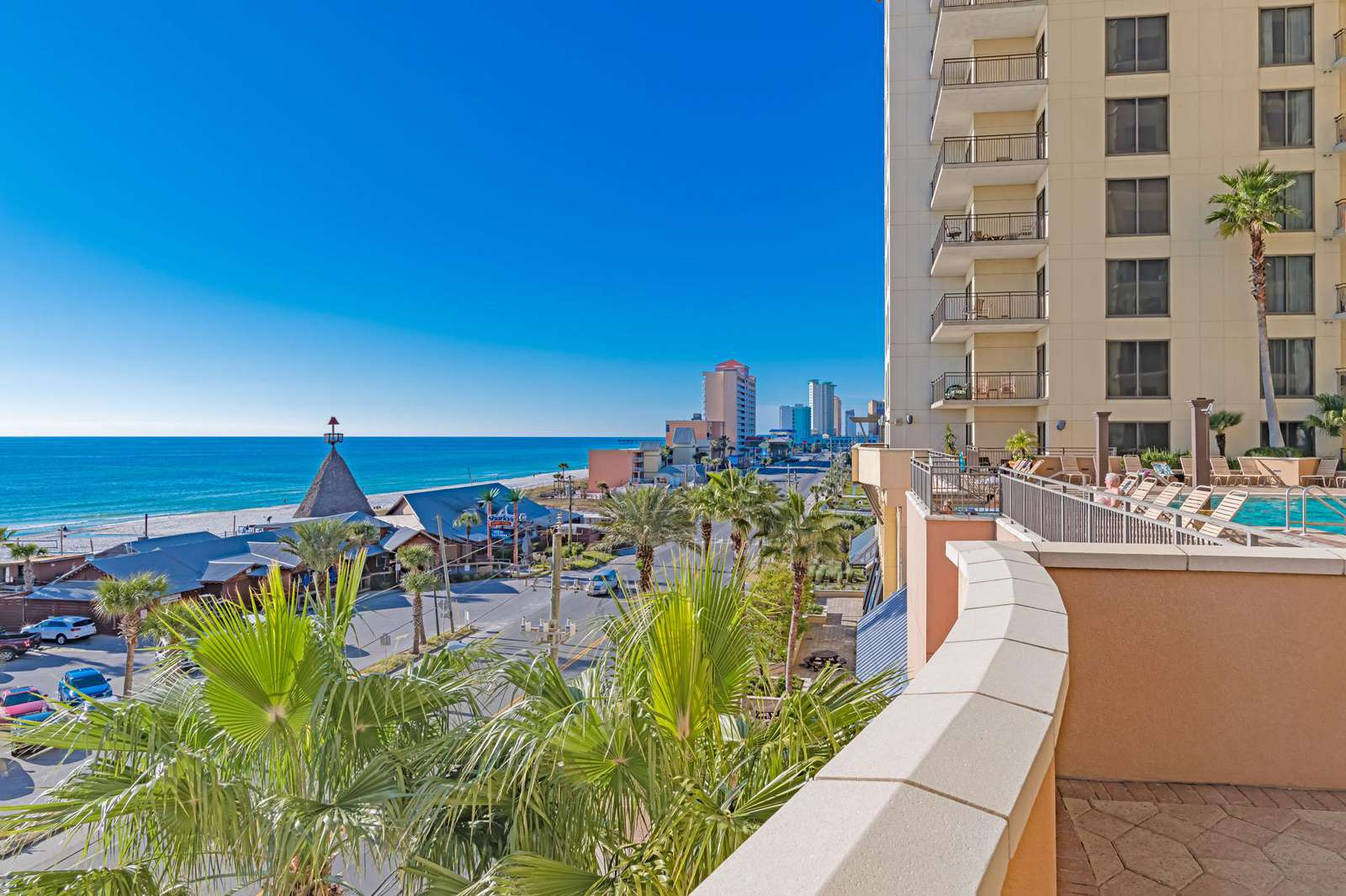 Constant beach views from the 4th floor pool deck!