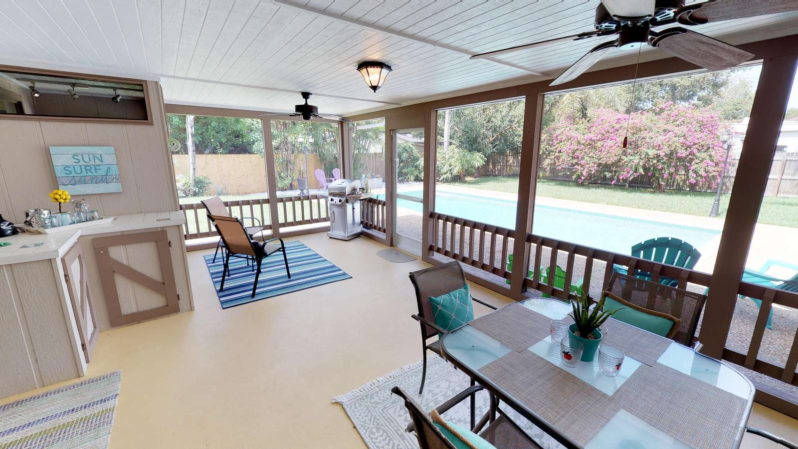 Screened Lanai with access to private pool