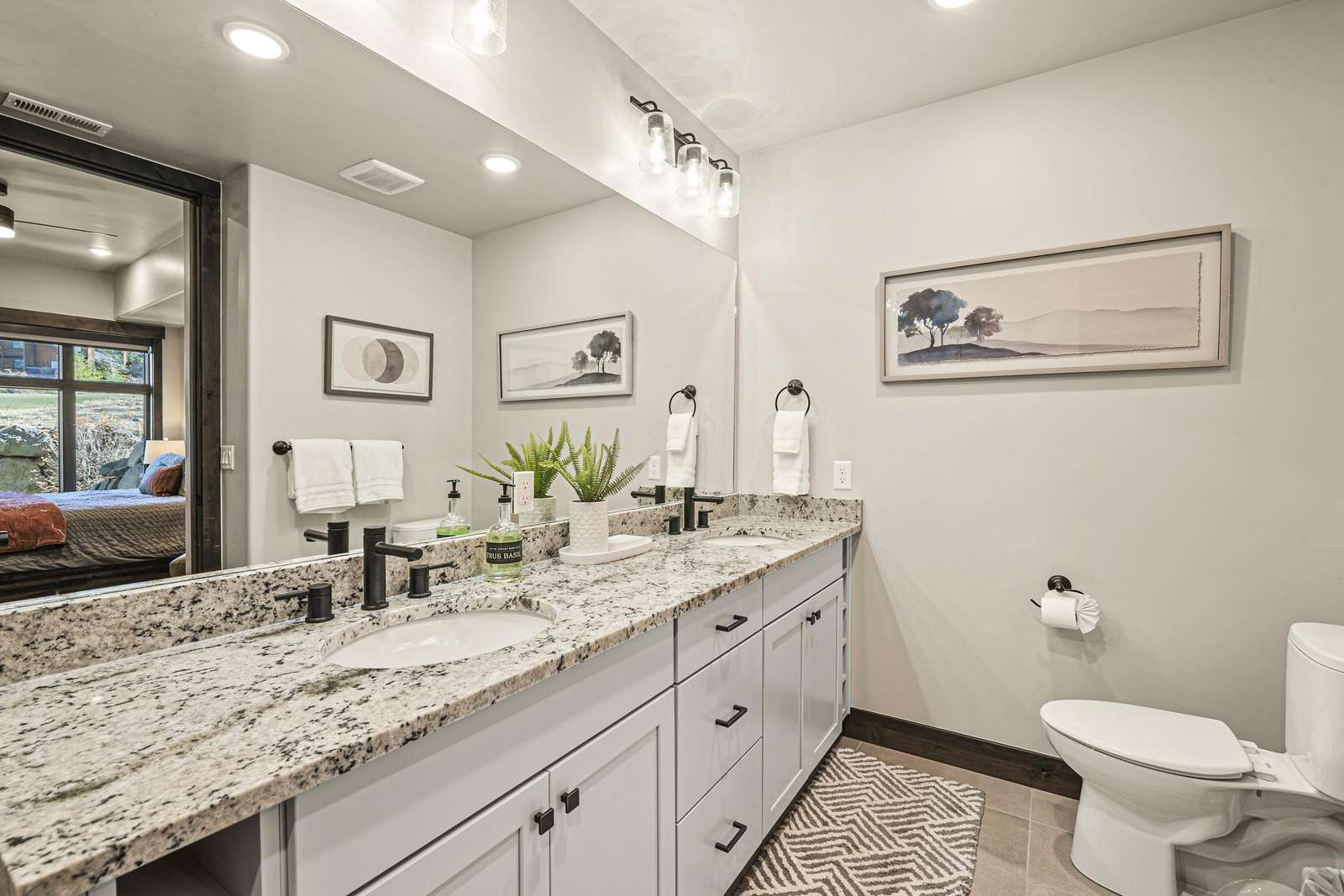 Master bathroom with a double vanity