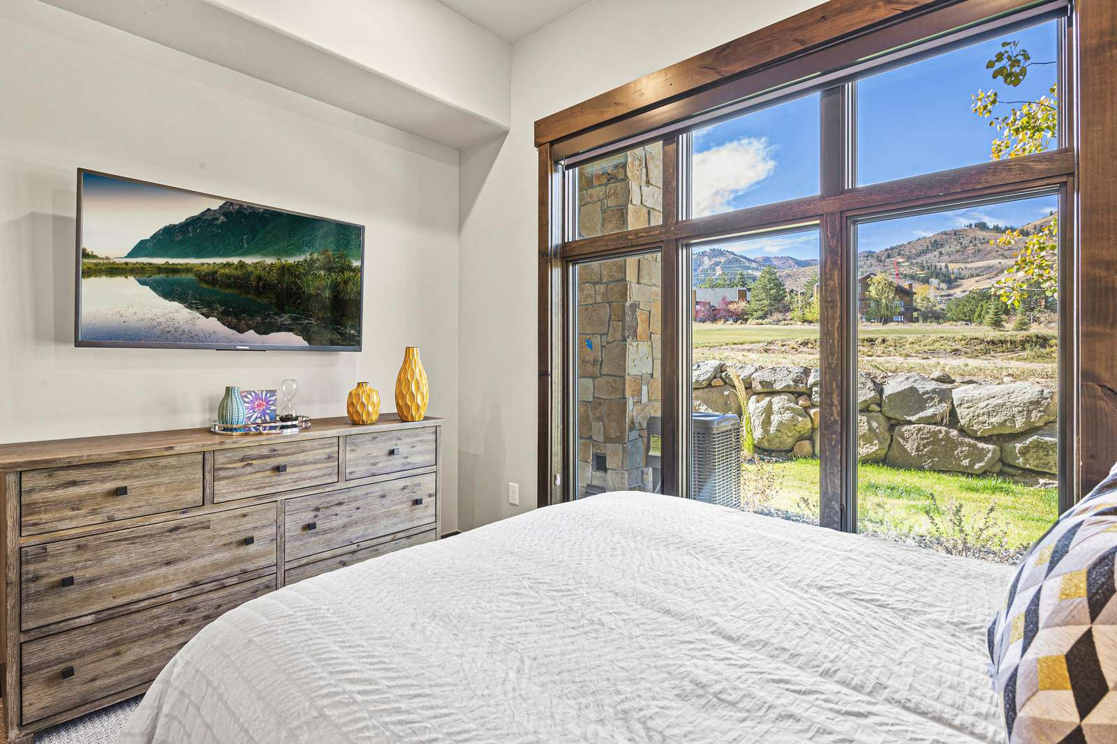 Mountain views from the guest bedroom