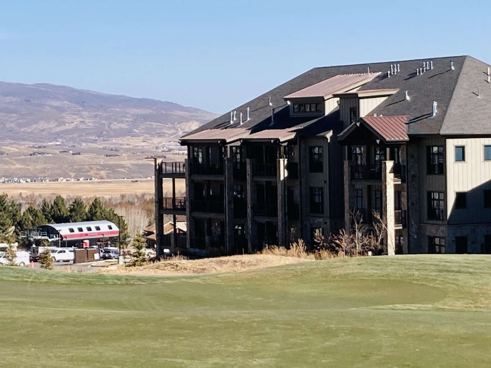 The Cabriolet Gondola is across the street from the condo buildings