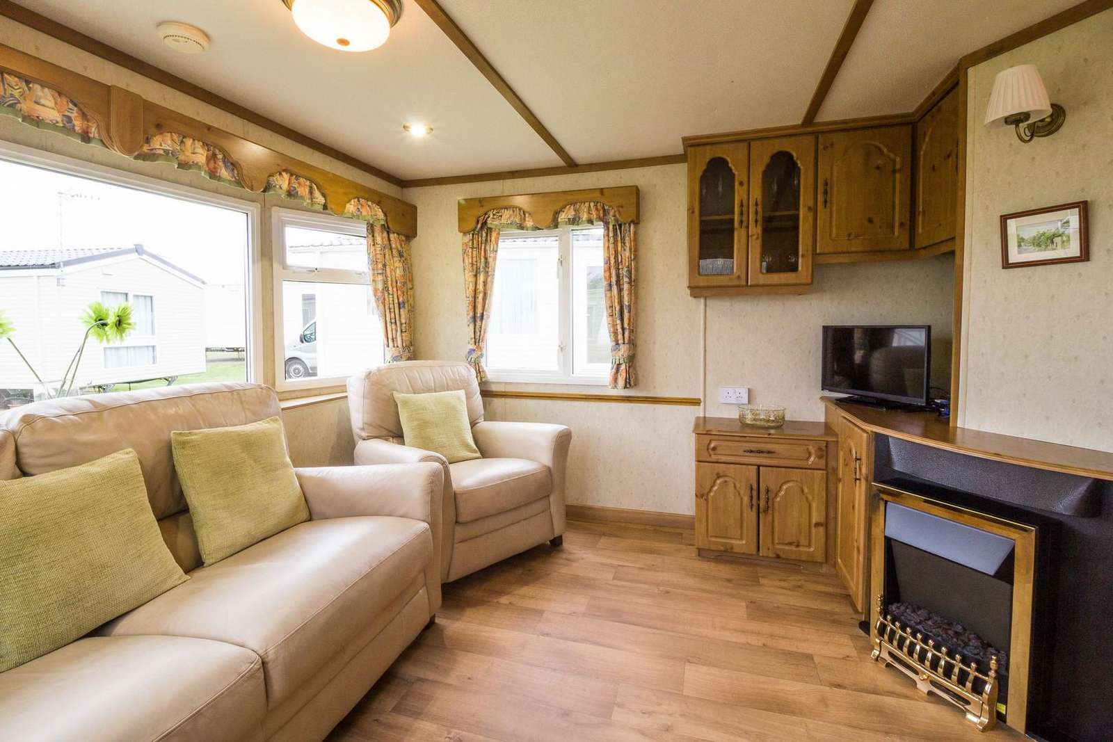 Great living area in this caravan with double glazing and central heating.