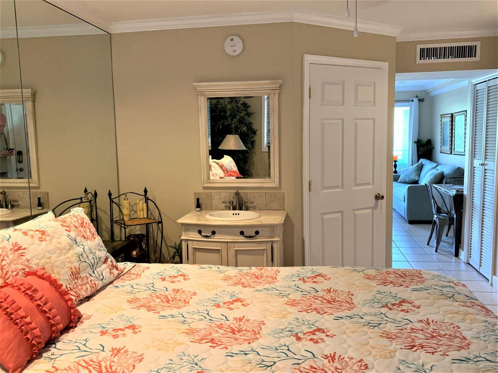 Extra vanity in Bedroom