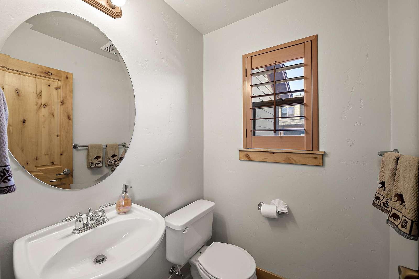 Half bathroom near the kitchen